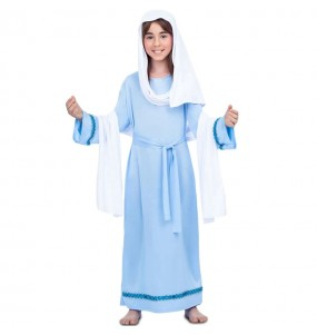 Déguisement Vierge Marie bleu fille