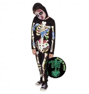 Déguisement Zombie Skeleton garçon