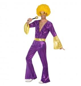 Déguisement Disco Violet pour homme