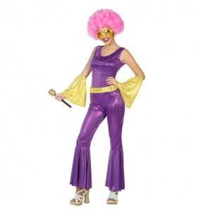 Déguisement Disco Violet pour femme