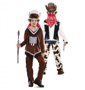 Déguisement double Indien et Cowboy enfant