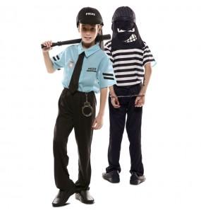 Déguisement double Policier et Voleur Banque enfant