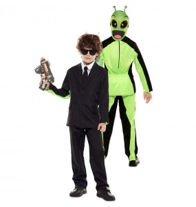 Déguisement double Men in Black et Alien enfant