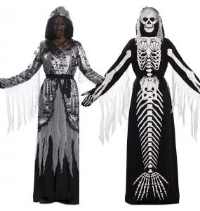 Déguisement double Mort et Sirène Squelette adulte