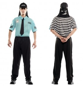 Déguisement double Policier et Voleur adulte