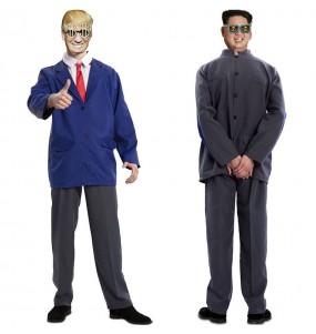 Déguisement double Donald Trump et Kim Jong-un adulte
