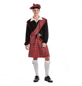 Déguisement Écossais rouge pour homme