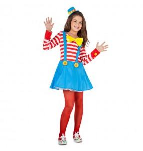 Déguisement Clown fille avec bretelles