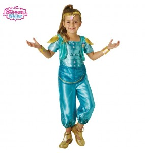 Déguisement Shimmer and Shine Turquoise pour fille