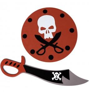 Épée et bouclier pirate en mousse pour enfants