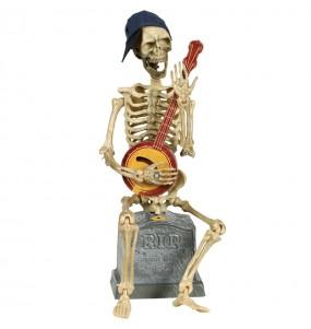 Squelette avec banjo décoration