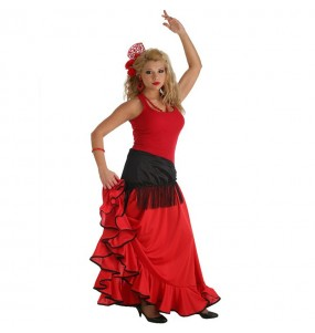 Jupe Flamenco rouge