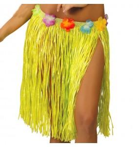 Jupe Hawaï courte Jaune