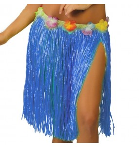 Jupe Hawaï Courte Bleue