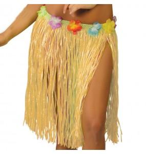 Jupe Hawaï courte Paille