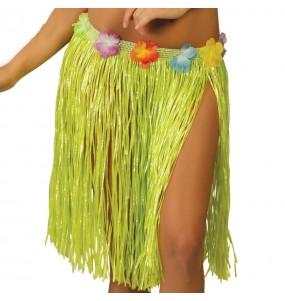 Jupe Hawaï courte Verte
