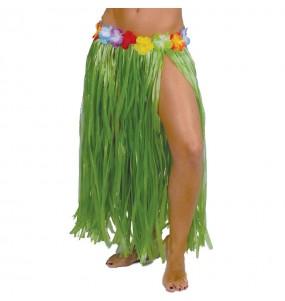 Jupe Hawaï longue Verte