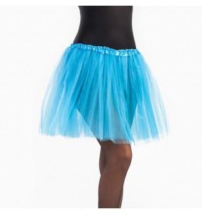 Falda tutú azul celeste mujer