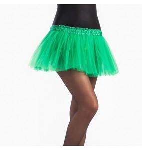 Falda tutú verde oscuro niña