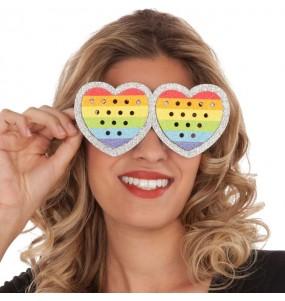 Lunettes Cœur Rainbow