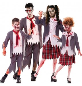Groupe Écoliers zombies Ensanglantés