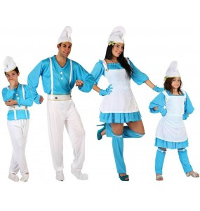 Groupe Famille Schtroumpf Bleus