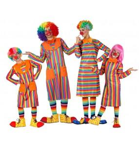 Groupe Clowns Multicolore à Rayures