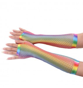 Gants Résille multicolore LGTB