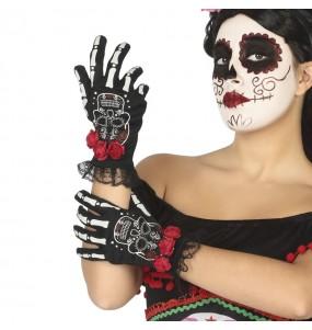 Gants Catrina mexicaine