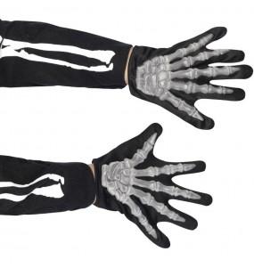 Gants squelette zombie pour enfants