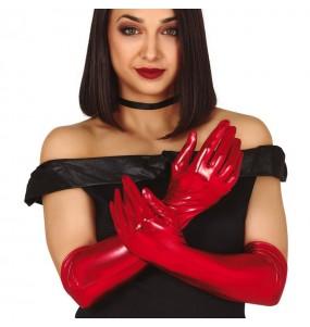 Gants Métallisés rouges