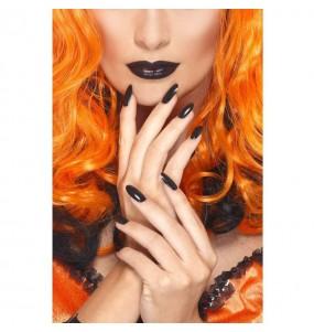 Kit vernis à ongles et rouge à lèvres noir