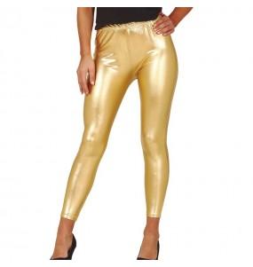 Leggings dorés effet métallique