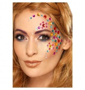 Maquillage bijoux Arc-en-ciel pour le visage