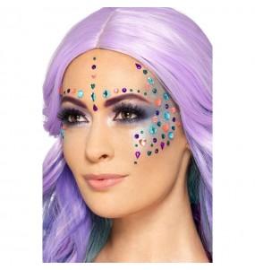 Maquillage Bijoux Multicolores pour le visage