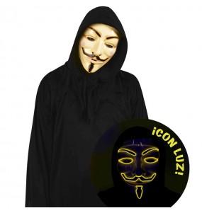 Masque Anonymous avec lumière