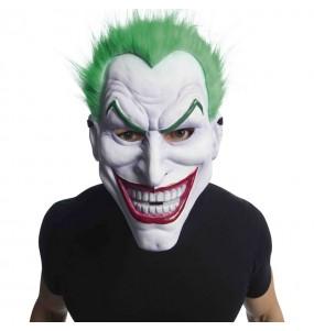 Masque Joker en PVC avec cheveux
