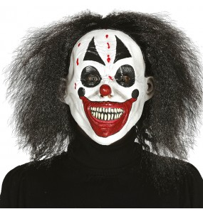 Masque Clown Assassin avec cheveux