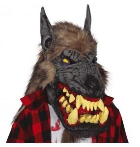Masque loup géant avec cheveux