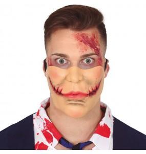 Masque Joker avec cicatrices