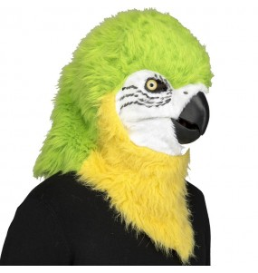 Masque Perroquet avec bouche articulée
