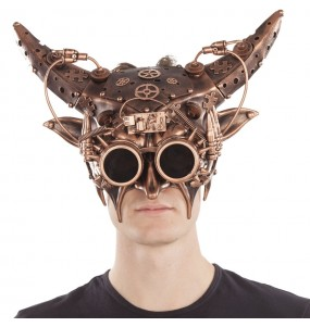 Masque Steampunk avec cornes