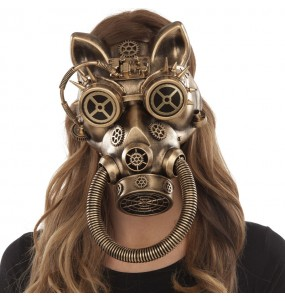 Masque Steampunk Félin