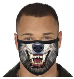 Masque de protection Loup-garou pour adultes