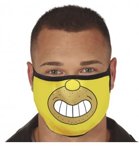 Masque de protection Homer Simpson pour adultes