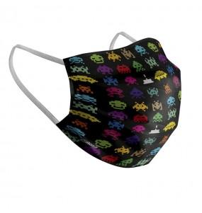 Masque de protection Aliens Space Invaders pour adultes