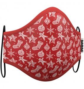 Masque de protection Noël Rouge pour adultes