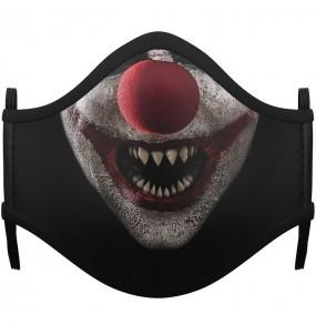 Masque de protection Clown Zombie pour adultes