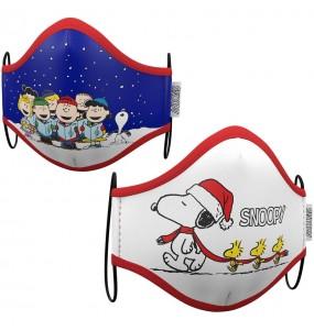 Masque de protection Snoopy Noël pour adultes