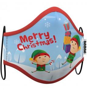 Masque de protection Elfe Noël pour enfant